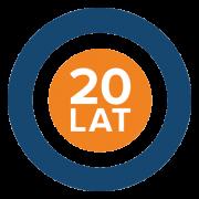 Logo firmowe Winterwarm Polska z okazji 20-lecia działalności w Polsce.