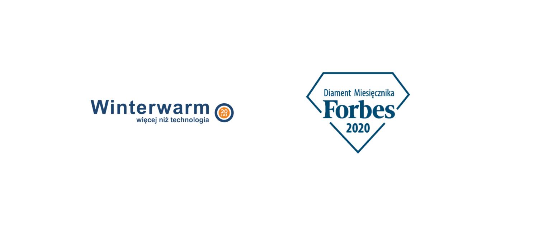 Diament w plebiscycie miesięcznika Forbes'a 2020 dla firmy Winterwarm Polska.