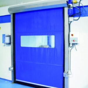 Profesjonalna brama szybkobieżna Proline do najwyższych obciążeń w kolorze niebieskim.